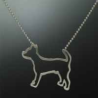 Chihuahua Sterling Silver Necklace
