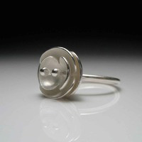 Sterling Silver Euphorbia Ring by Tara Turner