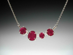 Sterling Silver and pink felt Necklace